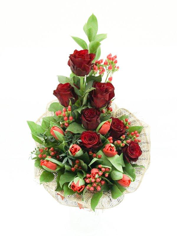 Юбилейные букеты из роз и тюльпанов фото, барнауле
